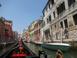 Gondola-ing through Venice