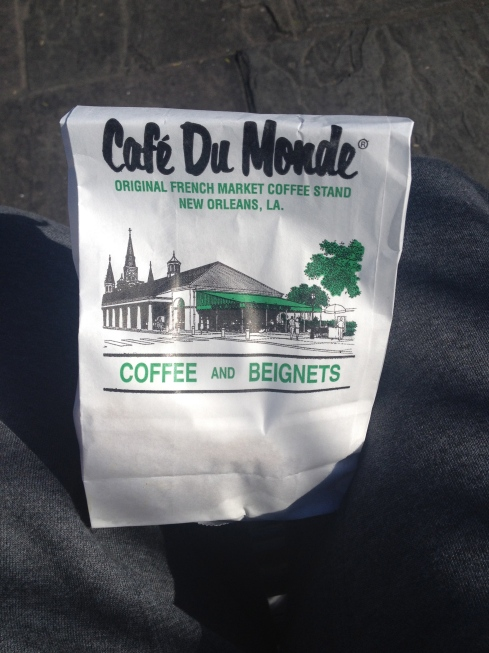 Cafe Du Monde! Open 24hrs. ensuring you can always get Beignets!